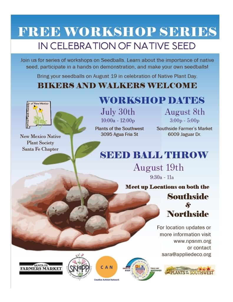 Seed Ball Throw, Native Plant Day, Aug  19, 2017 - Santa Fe