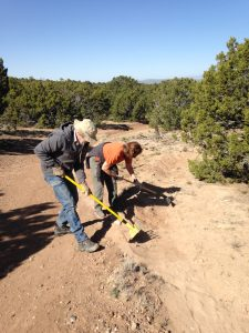 City Trail Work in La Tierra Trails, April 2018