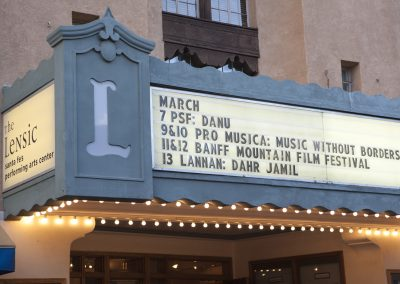 Lensic Marquee