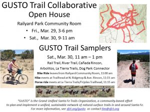 GUSTO Open House and Trail Sampler @ Railyard Park Community Room