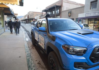 Toyota Blue Truck side Shot from Side