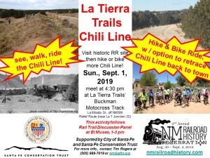 Chili Line Site Visit and Retracement by Foot or Bike @ La Tierra Trails, Buckman Track (near Junction 22)