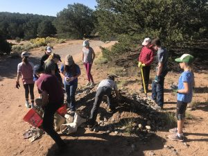 City Trail Work in La Tierra Trails, Fall 2018