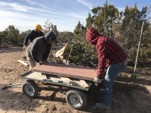 Installing the Margaret Alexander Recovery Bench, Dec. 11, 2019