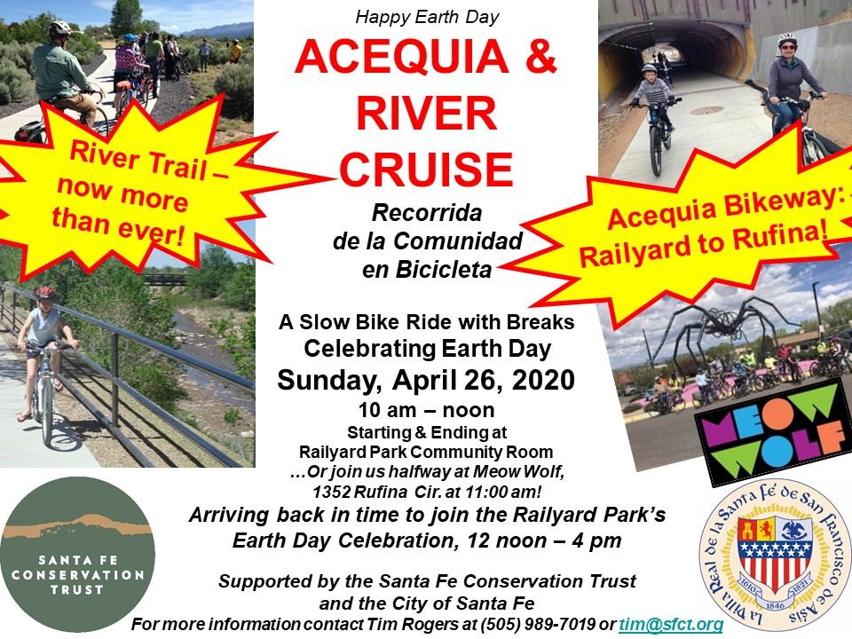 Happy Earth Day / Acequia and River Cruise @ Railyard Park Community Room | Santa Fe | New Mexico | United States