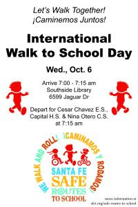 Walk to School Day @ South Side Library